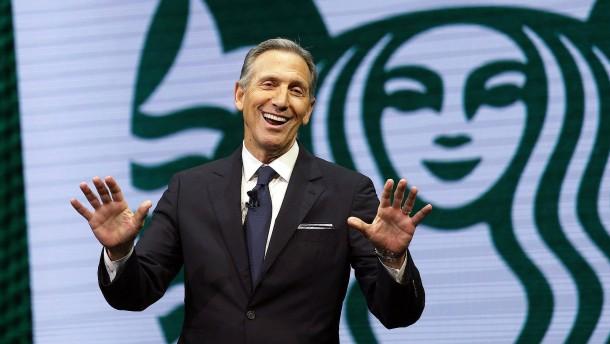 Früherer Starbucks-Chef erwägt Präsidentschaftskandidatur