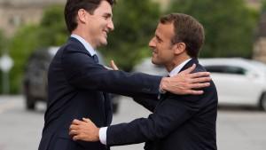 """Macron und Trudeau wollen """"starken Multilateralismus"""""""