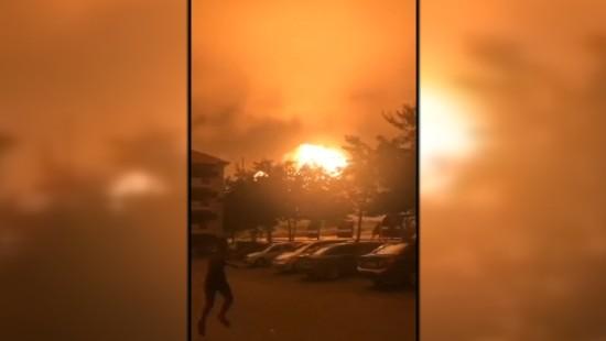 Gewaltige Gasexplosion