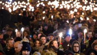 In Kopenhagen gedachten die Menschen am Abend der Anschlagsopfer.