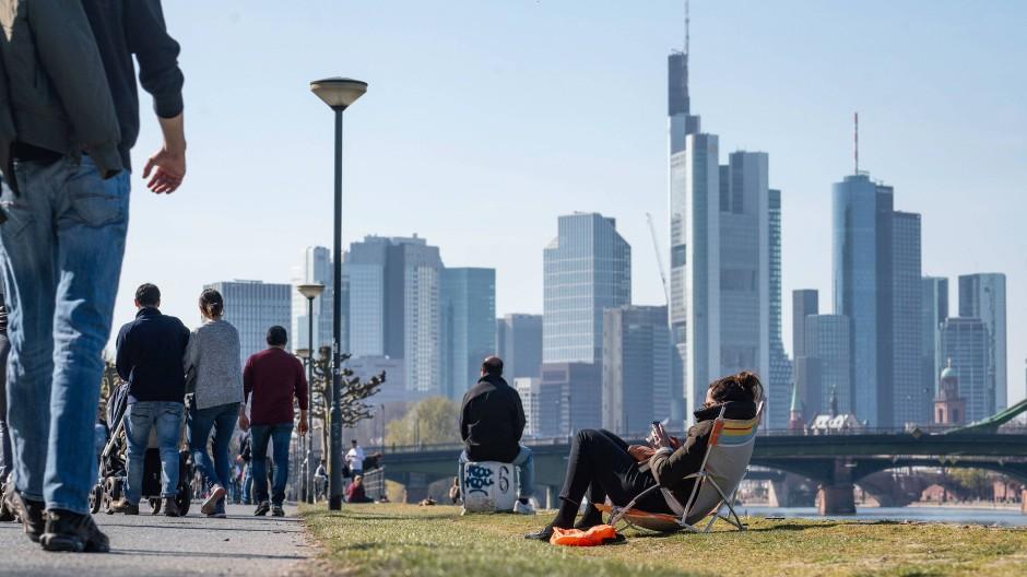 Frankfurt im April: Die Stadt war mitten in der ersten Welle.
