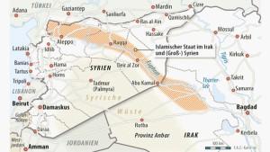 Infografik / Karte / Islamischer Staat im Irak und Syrien