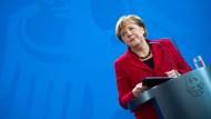 Bundeskanzlerin Angela Merkel: Hielt sich sehr knapp für eine Regierungserklärung.