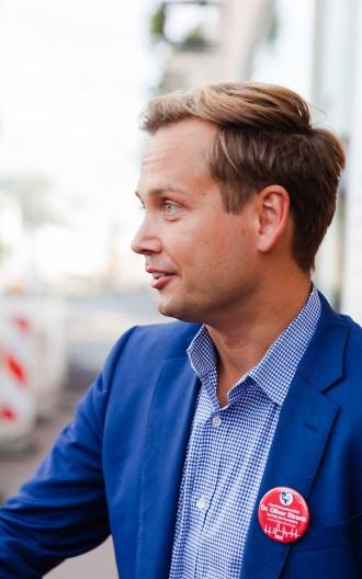 SPD-Kandidat Oliver Strank