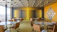 70er Jahre Chic: Der von Victor Vasarely gestaltete Speisesaal der Deutschen Bundesbank.