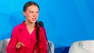 Emotionaler Appell: Greta Thunberg am 23. September vor den Vereinten Nationen in New York