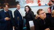 Es sieht düster aus für die SPD und Parteichefin Nahles.