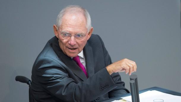 Schäuble will Schuldenbremse für Länder lockern