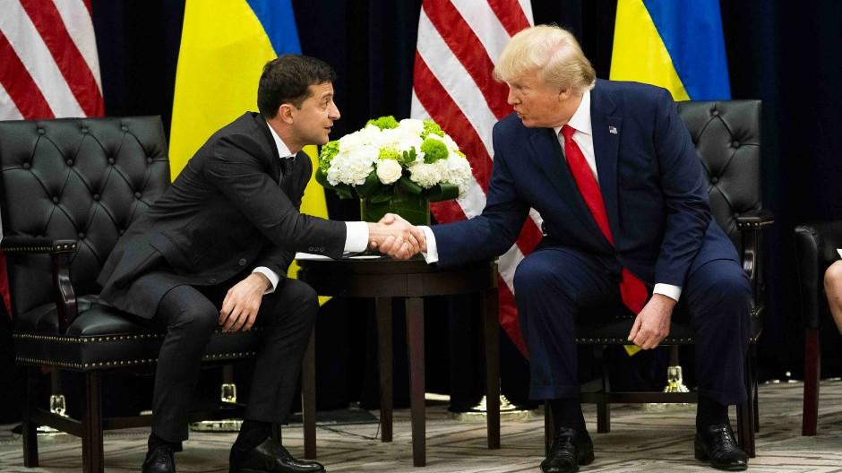 Der Präsident der Ukraine, Wolodymyr Selenskij, trifft  Donald Trump im September bei den Vereinten Nationen