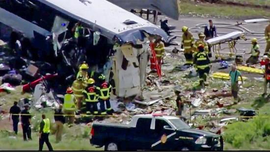 Zahlreiche Tote bei Busunfall