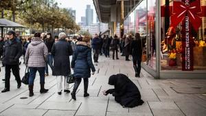 Auf der Straße herrscht Bettler-Konkurrenz