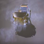 Simulation der chinesischen Sonde auf dem Mond