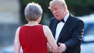 May empfängt Trump in London