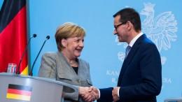 Merkel und Morawiecki wollen Zusammenarbeit intensivieren