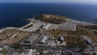 Nach dem Brand in Moria: das neue Aufnahmelager Karatepe auf Lesbos.