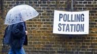 Nicht nur der Regen trübt die Stimmung am Brexit-Tag