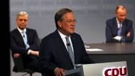 Hat er das Rüstzeug? Armin Laschet mit seinen Mitbewerbern um den CDU-Vorsitz Norbert Röttgen und Friedrich Merz