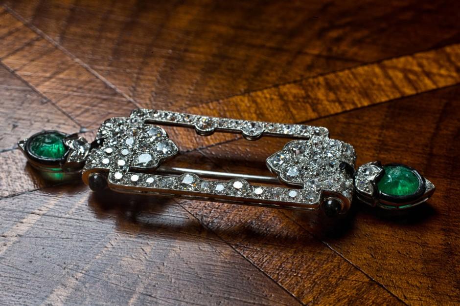 Broschen & Anstecknadeln Brosche Diamanten Vintage Gelbgold Vintage Fragrant Aroma Diamanten & Edelsteine