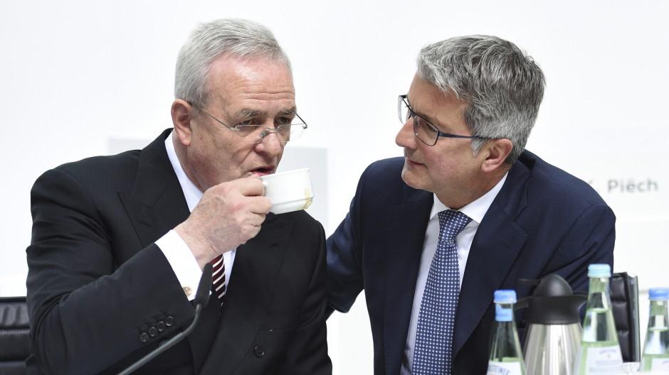 Im Mittelpunkt des VW-Dieselskandals: der ehemalige VW-Chef Martin Winterkorn und der frühere Audi-Chef Rupert Stadler.
