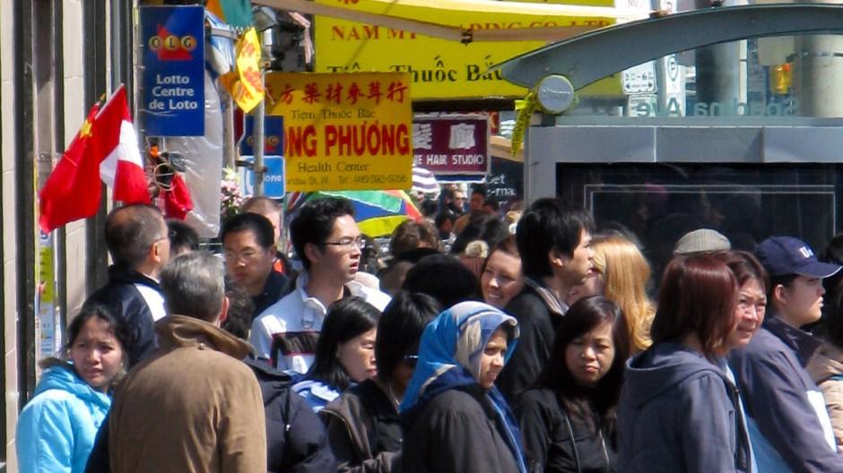 Chinatown in Toronto: Kanada setzt auf die Einwanderung.