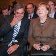 BDA-Präsident Ingo Kramer und Kanzlerin Angela Merkel haben bei aller Kritik immer einen Gesprächsfaden gefunden.