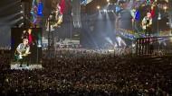 Hunderttausende Menschen drängten sich vor der Bühne.