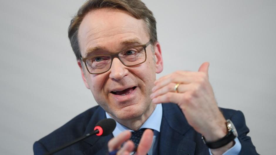 Jens Weidmann im Februar 2019 während einer Pressekonferenz