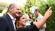 Schon im Wahlkampfmodus? Olaf Scholz am Samstag beim Tag der Offenen Tür im Finanzministerium in Berlin