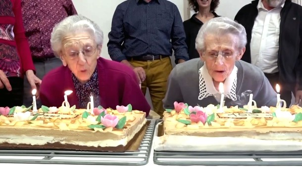 Diese Zwillinge werden 100 Jahre alt