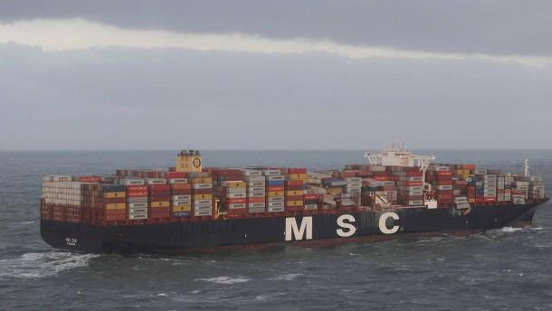 Warnmeldung für Borkum wegen verlorener Container