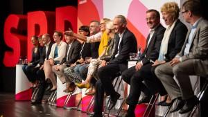 Wie war es, als die SPD nach neuen Vorsitzenden suchte?