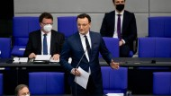 Jens Spahn am Mittwoch im Bundestag