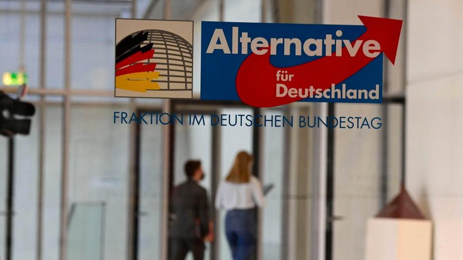 Der Eingang zum Büro der Bundestagsfraktion der AfD