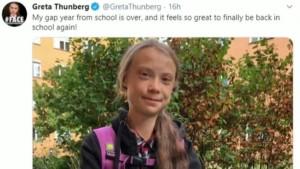 Thunberg drückt wieder die Schulbank