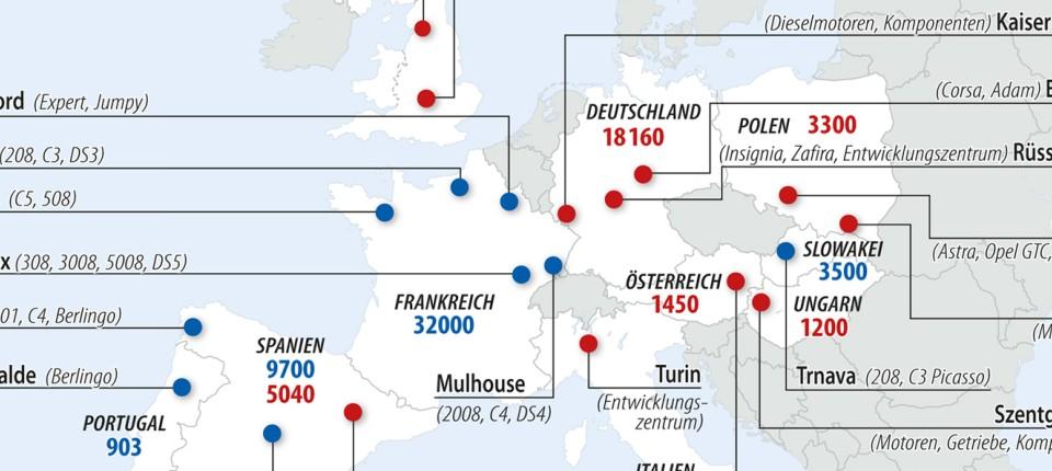 Opel Nach Der übernahme 19 Standorte Und Strikte Sparvorgaben