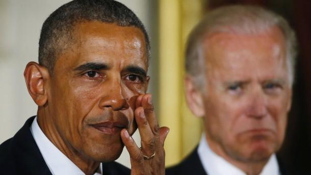 Obama stellt unter Tränen Reformen für das Waffenrecht vor