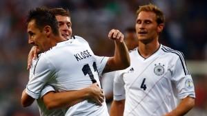 Gegen Österreich klappt's sogar zu Null