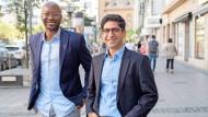 Armand Zorn (links) und Kaweh Mansoori treten für die SPD bei der Bundestagswahl in Frankfurt an.