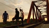 Migranten aus Honduras nahe der Stadt Huixtla in Mexiko auf ihrem Weg Richtung amerikanische Grenze