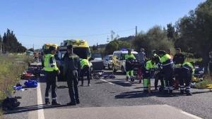 Autofahrerin rast auf Mallorca in Gruppe deutscher Radfahrer