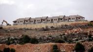 """Die im Bau befindliche israelische Siedlung """"Furat"""" südlich von Bethlehem im Westjordanland (Dezember 2016)."""