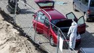 Fahrer wollte in Antwerpener Einkaufsstraße rasen