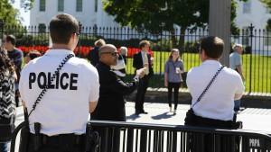 Trumps Leibwächter arbeiten in Uniformen aus Mexiko