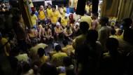 Gefangene auf den Philippinen schlafen im Treppenhaus