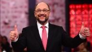 Mit 100 Prozent der Stimmen wurde Martin Schulz am Sonntag zum SPD-Chef gewählt.
