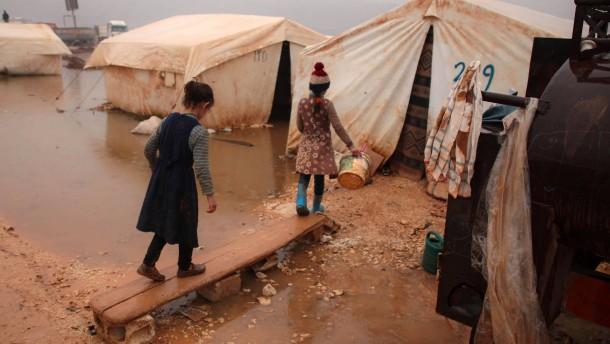 Unmenschliche Bedingungen in syrischen Flüchtlingslagern