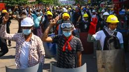 Myanmars Diplomaten proben den Widerstand