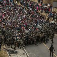 Guatemaltekische Soldaten versuchten am 17. Januar, Migranten in Chiquimula aufzuhalten.