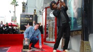 """Quentin Tarantino und Samuel L. Jackson auf dem """"Walk of Fame"""" in Hollywood"""