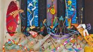 """Öl auf Leinwand: """"Hedonize my ass"""" von David Czupryn aus dem Jahr 2018"""